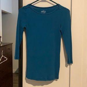 Boat neck 3/4 sleeve T-shirt